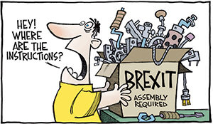 Brexit Cartoon - where are the instructions