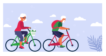 pension rules illustration of older cyclists